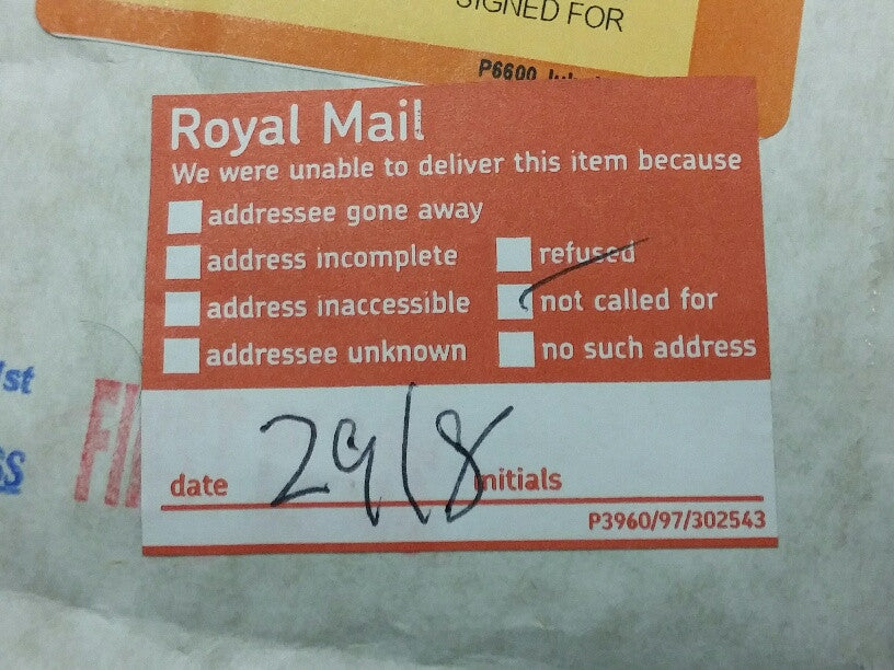 Re-deliver My Parcel-Extra Keys