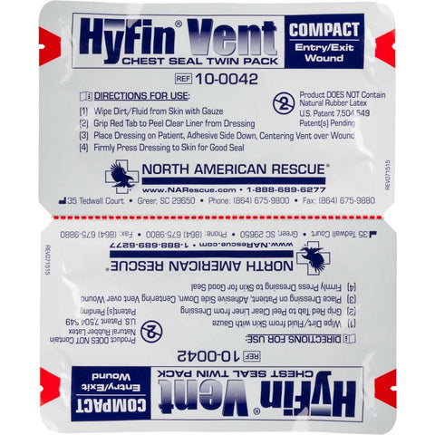 Hyfin Vent Compact Chest Seal Twin Pack - 1st Responders Tactical & Safety Training