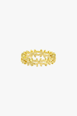 Clover club index ring gold plated