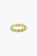 Eternity aqua ring gold plated