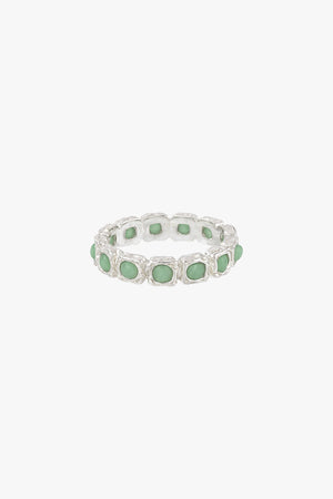 Eternity aqua ring silver
