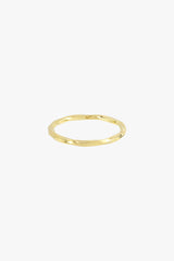 Hammered stacking ring gold plated