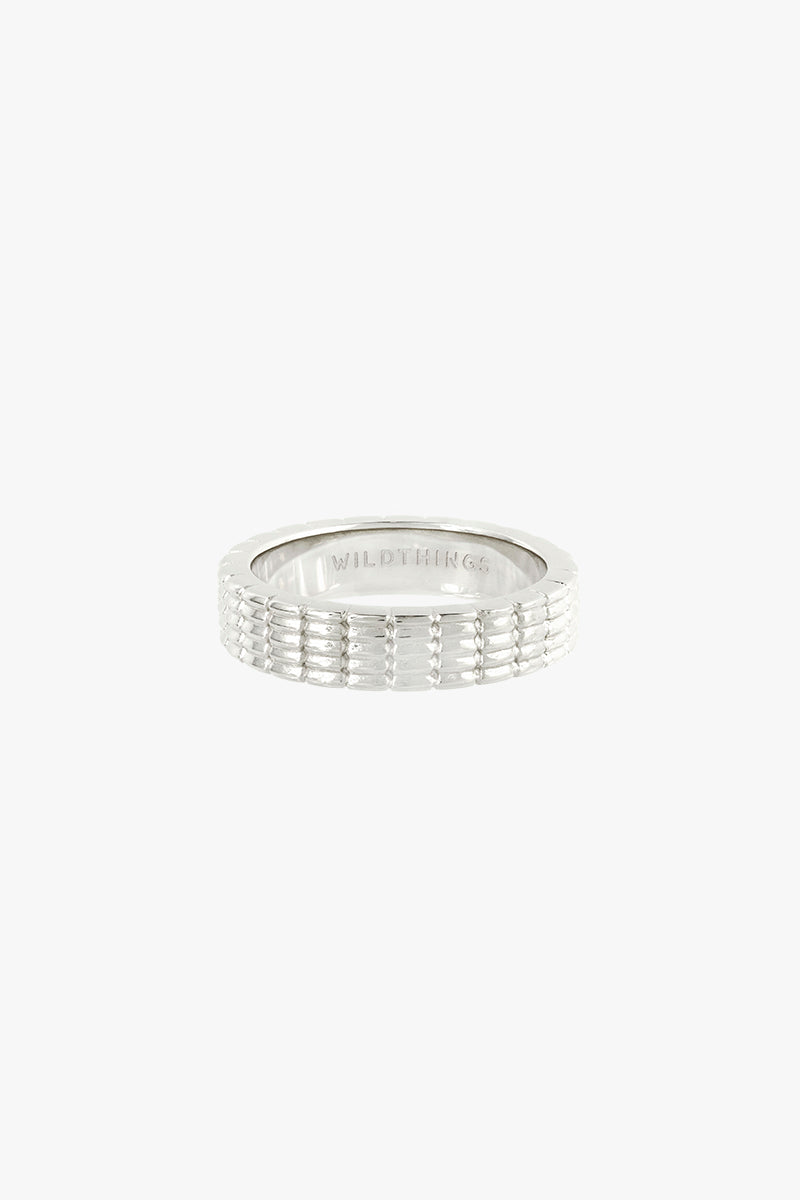 Off road ring silver