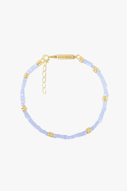 Blue sky bracelet gold plated