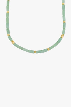 Aqua bay necklace gold plated