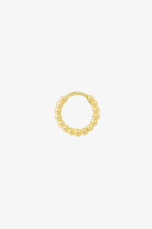 Small dots hoop gold plated (13mm)