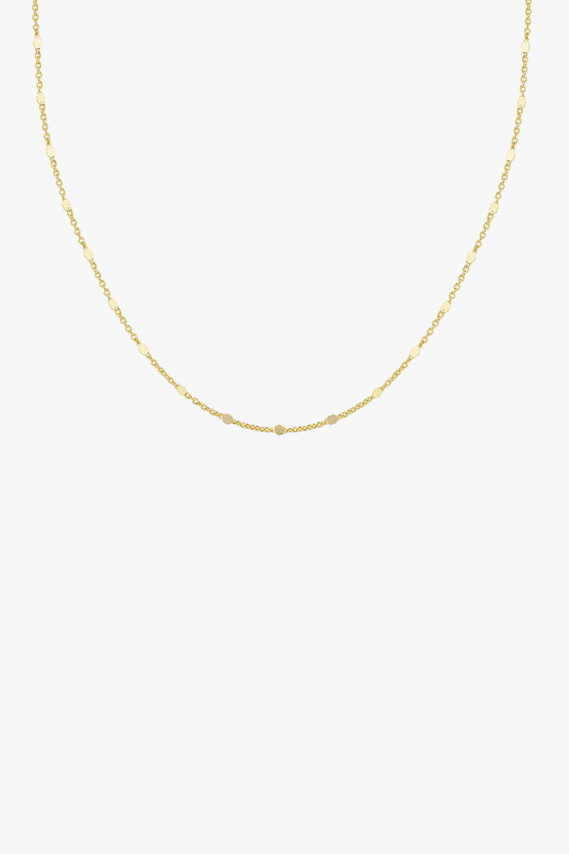Small drops chain gold plated