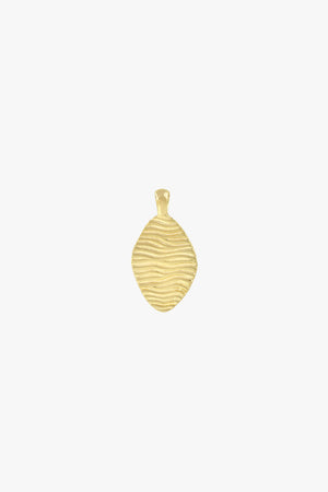 Water ripple pendant gold