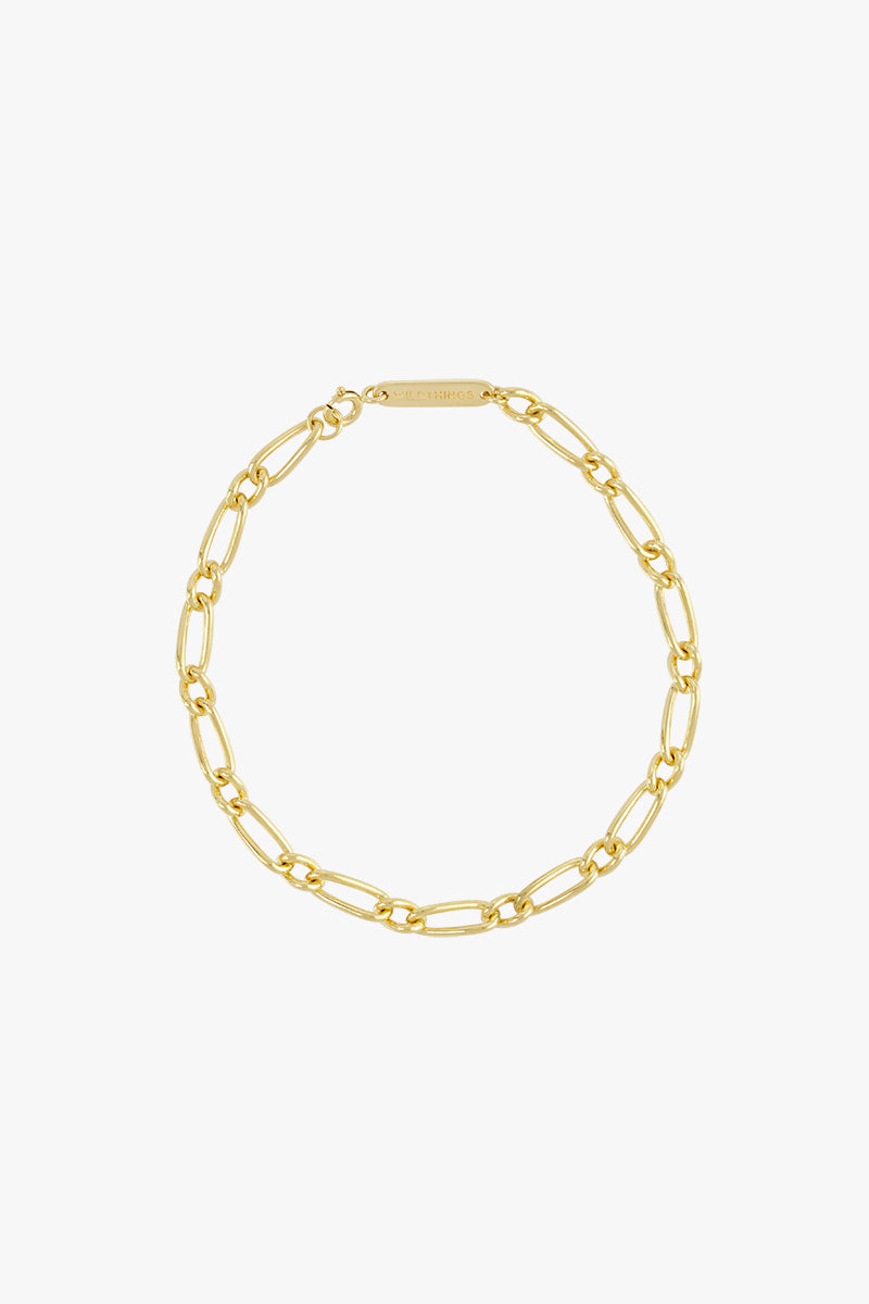 Chunky figaro bracelet gold plated