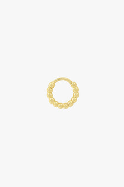 Small dots hoop gold plated (11mm)