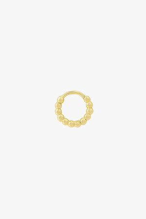 Small dots hoop gold (11mm)