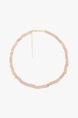 Pink cloud necklace gold (34cm)