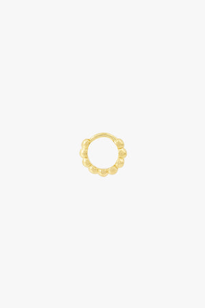 Small dots hoop gold plated (9mm)