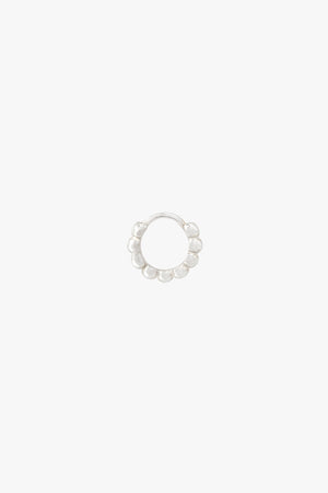 Small dots hoop silver (9mm)