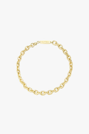 Chunky chain bracelet gold plated