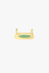 Iconic balance bar pendant gold plated