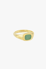 Chunky sea signet ring gold plated