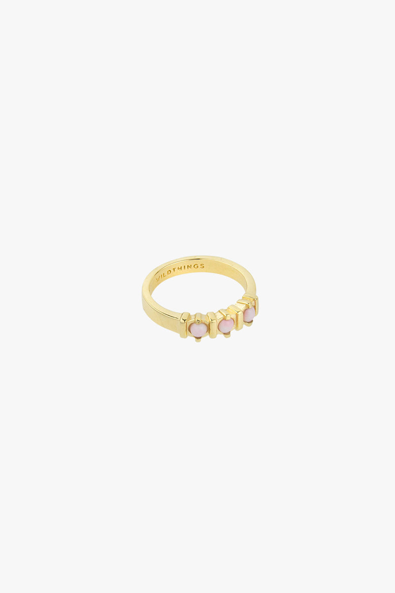 Vintage pink cloud ring gold