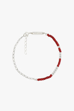 Think twice chain bracelet red silver