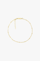 Stud chain anklet gold plated