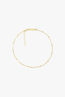 Stud chain anklet gold