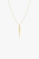Ice pick pendant gold