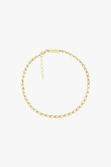 Oval chain anklet gold