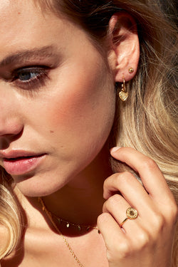 Wildflower ear stud gold
