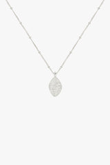 Water ripple pendant silver