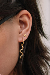 Wildflower ear stud 14k solid gold
