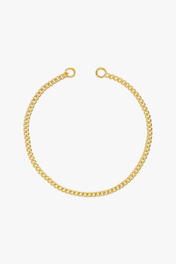 Curb clasp bracelet gold plated