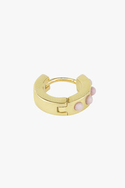 Pink cloud huggie gold plated