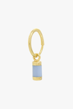 Blue sky drop earring gold plated