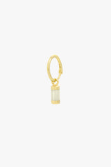Cloud white earring gold plated