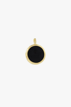 Doublesided yin yang pendant gold plated