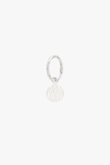Waves coin earring silver