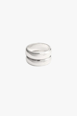 Double Trouble ring silver
