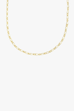 Chunky figaro necklace gold plated (48 cm)