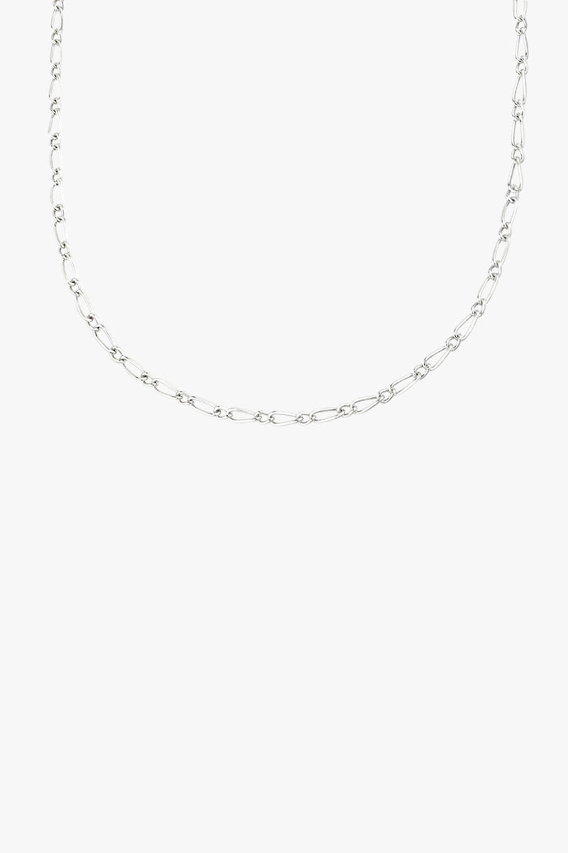 Chunky figaro necklace silver