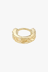 Waves huggie gold plated