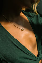 Love child necklace 14k solid gold