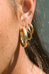 Small hoop earring gold plated (15mm)