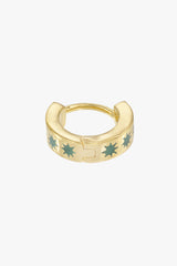 Ice star huggie gold plated