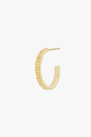 Dots n stripes hoop gold