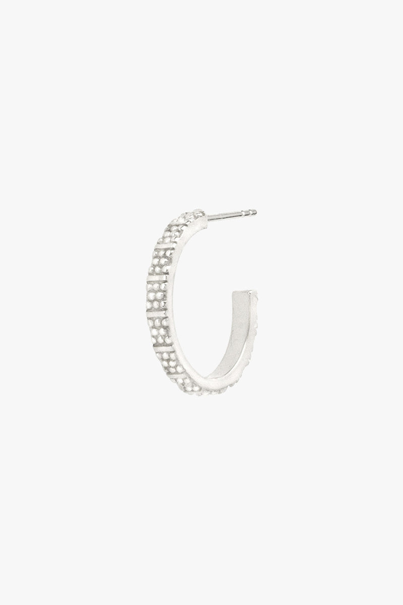 Dots n stripes hoop silver