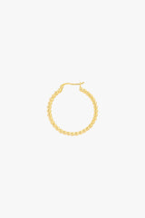 Dots hoop gold plated 30mm