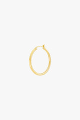 Wild classic earring gold plated medium (25mm)