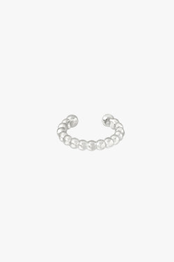 Bubble ear cuff silver