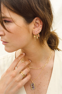 Classic bar earring gold plated