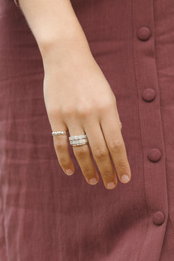 Shine for eternity ring silver